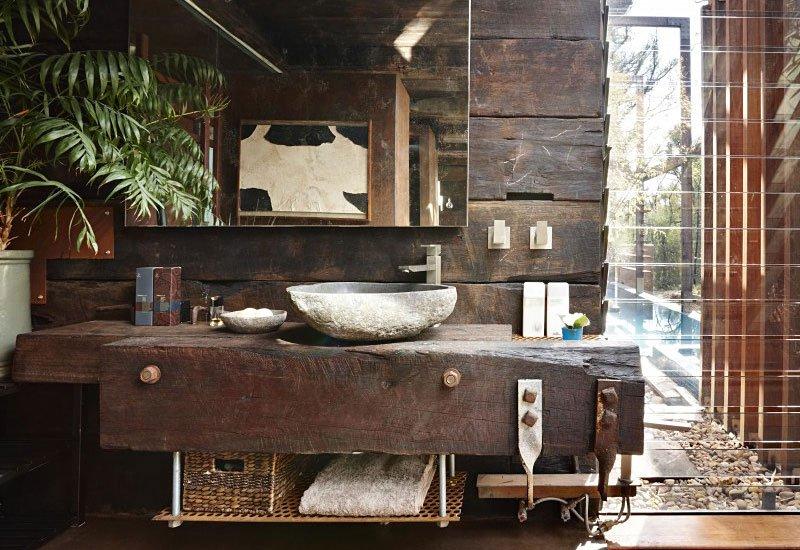 Cool affordable arredo bagno stile rustico with mobili da for Arredamento rustico ikea